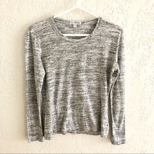James Perse Heathered Gray Long Sleeve Crew Neck 2